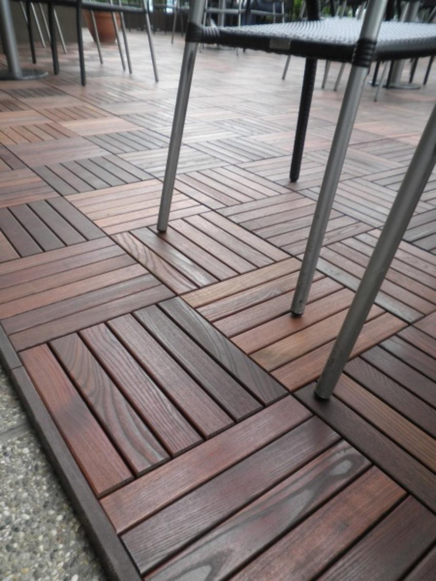 Pavimenti e coperture per esterni in frassino termotrattato - Piastrelle vetrificate ...